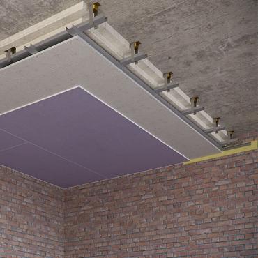 Каркасный звукоизоляционный потолок на подвесах Шуманет-Коннект-К15 (130 мм) UA