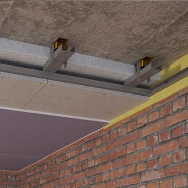 Самая тонкая система каркасного подвесного потолка на виброкреплениях.(115мм)